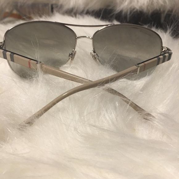 c910117e9cba Burberry Accessories - Burberry silver aviator sunglasses BE3080